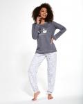 Piżama Cornette 381/257 Swan dł/r damska