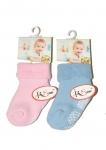 Skarpety RiSocks art.3225 Frotta ABS niemowlęce Gładkie 0-24