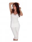 Piżama De Lafense 970 Mariette ramiączko S-2XL