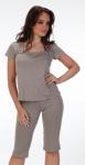Piżama De Lafense 919 Kropki kr/r S-2XL