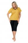 Piżama Donna Queen 3/4 Plus kr/r 3XL-4XL