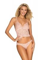 Komplet Obsessive Delicanta Top & Panties Pink