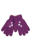 Rękawiczki YO! R-237A Odblaskowe dziewczęce