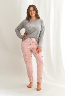 Piżama Taro 2608 Cora dł/r 4-6XL Z'22