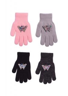 Rękawiczki Rak R-182 z Motylkiem dziewczęce